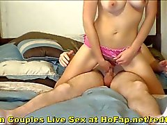 Real Teen Couple Sex On Bedroom Webcam