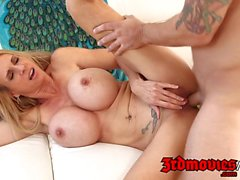 Brooke Tyler gets drilled by a young stud