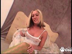Teen blondie enjoy a huge pyrex