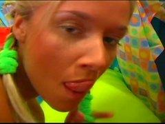 Teen blonde lesbian sensations hot pussy sessions