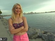 Barely legal teen Anastasia Knight gets creampied in a car