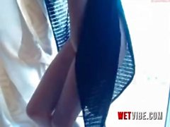 Shy Teen Shaking to The WETVIBE Sex Toy Non Stop That You Control