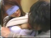 Asian teen spreads her hairy pussy lips