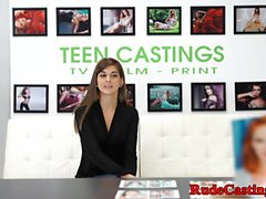 Petite teen casted and roughfucked