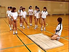 Asian Teens Hairy Pussies Hot Asses Stretch During Gym Class