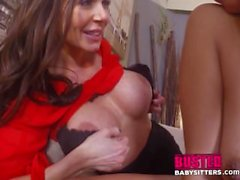 Mofos - Couple and the babysitter makes three