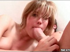 Teen slut gives them all her holes in threesome