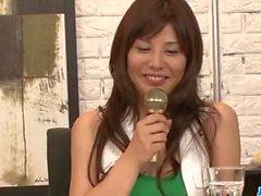 Milf in heats, Karen Natsuhara, devours cock in POV