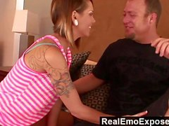 RealEmoExposed - Jenner Ashton milks her step-brother balls with her tight