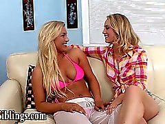 Pussy eating stepsister lesbians