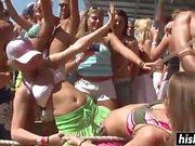 Amazing girls have fun on the beach
