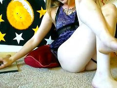 Sexy Blonde Kourtney Scarlett Solo Pussy Masturbation