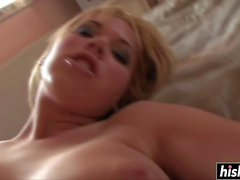 Sexy Blonde Brigitta fucked her ass