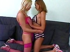 Angela Winter and Tanya Woods share some lesbian loving