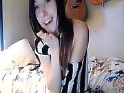 Hot teen girl stripping