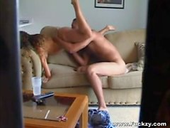 Amateur Horny Blonde Babe Has Her Cunt Pumped