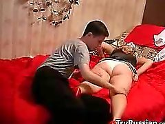 Horny Russian Mother And Her Young Lover