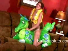Megan Loves Inflatable Toys