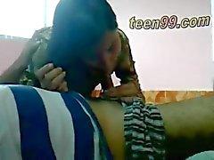 Desi indian Lovers having fun in a village room - teen99*com