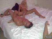german mom and dad fuck with step daughter and friend