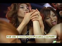 Japanese AV models enjoy sucking cock
