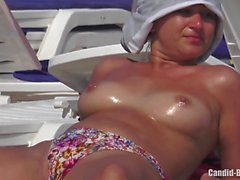 Big Boobs Topless Bikini Sexy Teens Beach Voyeur HD Video