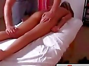 Christine cums for a massage