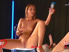 Orgasm World Championship: skinny teens. Alexis Crystal and