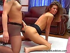 skinny girl spanked and strapon fucked