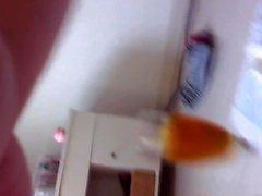 Skany asian teen urinates
