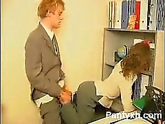 Smooth Pantyhose Gal Makeout