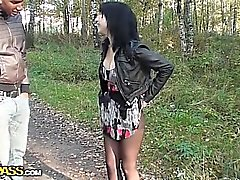 Hot pick up fucking in the forest