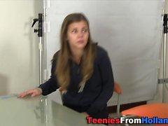 European teen facialized