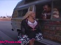 icecream truck super hot big pom pom cheerleader gets fucked hard
