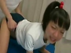 Cute Asian chick gets groped and licked before a masked man