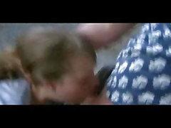Cute blonde russian teen gets rough throat fuck
