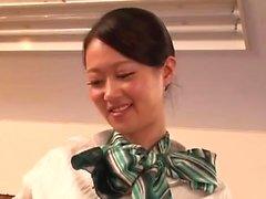 Asian teen slut in POV blowjob