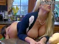 Massive tits MILF Karen Fisher dominating teen Molly Bennett