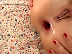 Teen gapes in rough fuck