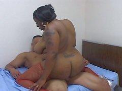 Fat ebony drilled by a horny guy