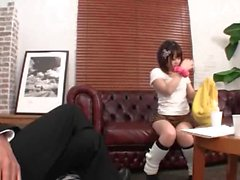 Cute jap teen gets her first sex session