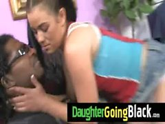 Huge black dick fucks my daughter teen pussy 2