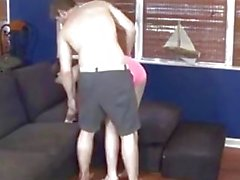 Wrestling with Step Sister turns into hot sex