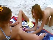 Lesbian beauties undressing each other