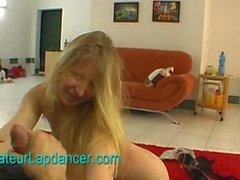 Czech blonde's wild amateur lapdance
