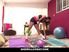 SheWillCheat Cheating GF Karlee Grey Fucks Personal Trainer