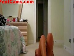 Workout Really Gets Her Wet On Webcam