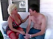 To the bedroom with a busty blonde milf