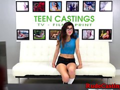 Brutal casting for hardfucked spex teen