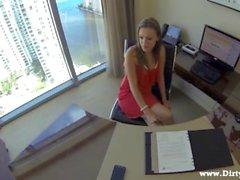 Lunch break secretary fuck